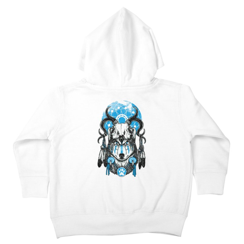 Wolf Spirit Kids Toddler Zip-Up Hoody by ES427's Artist Shop