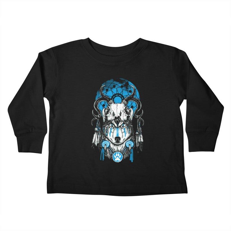 Wolf Spirit Kids Toddler Longsleeve T-Shirt by ES427's Artist Shop