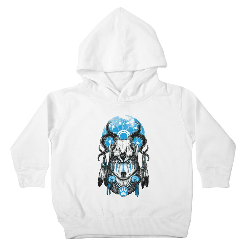 Wolf Spirit Kids Toddler Pullover Hoody by ES427's Artist Shop