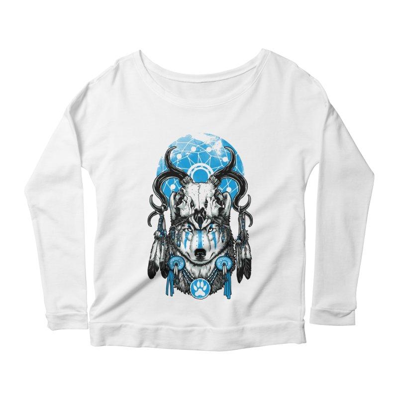 Wolf Spirit Women's Scoop Neck Longsleeve T-Shirt by ES427's Artist Shop