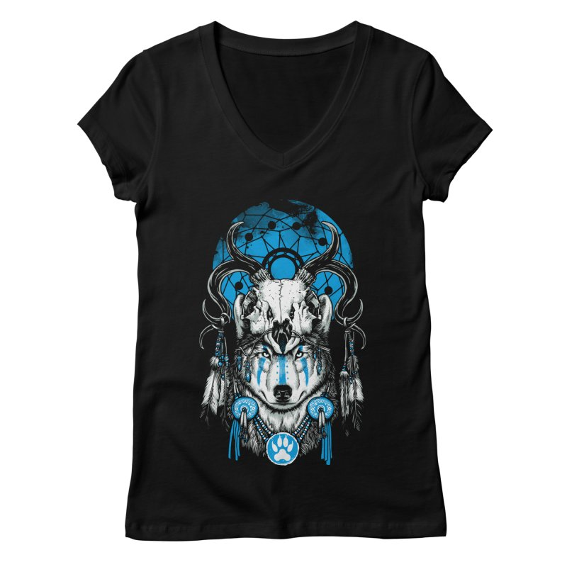 Wolf Spirit Women's Regular V-Neck by ES427's Artist Shop