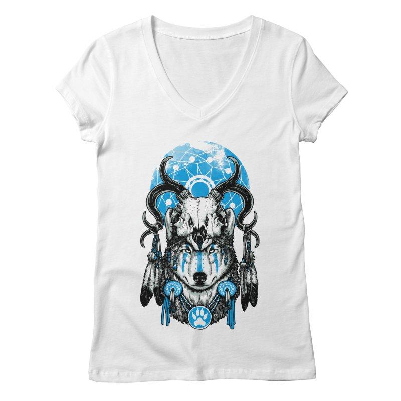 Wolf Spirit Women's Regular V-Neck by ES427's Artist Shop