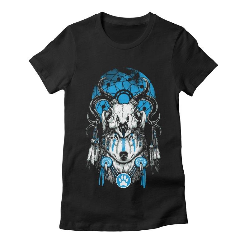 Wolf Spirit Women's Fitted T-Shirt by ES427's Artist Shop