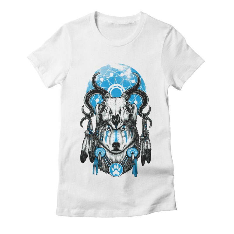 Wolf Spirit Women's Fitted T-Shirt by ES427's Artist Shop