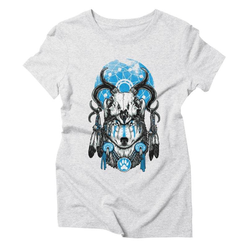 Wolf Spirit Women's Triblend T-Shirt by ES427's Artist Shop