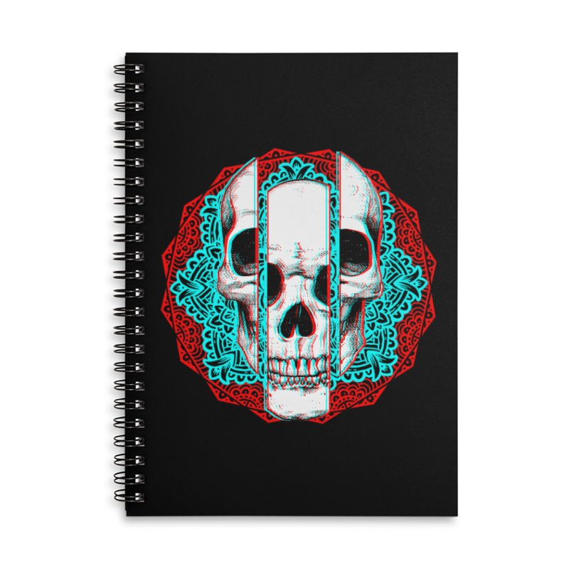 Mandala Skull Accessories Lined Spiral Notebook by ES427's Artist Shop