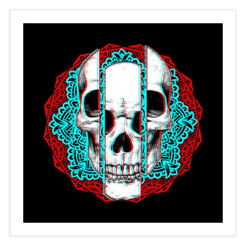 Mandala Skull Home Fine Art Print by ES427's Artist Shop