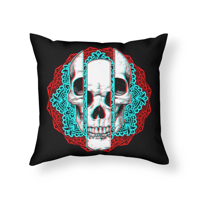 Mandala Skull Home Throw Pillow by ES427's Artist Shop