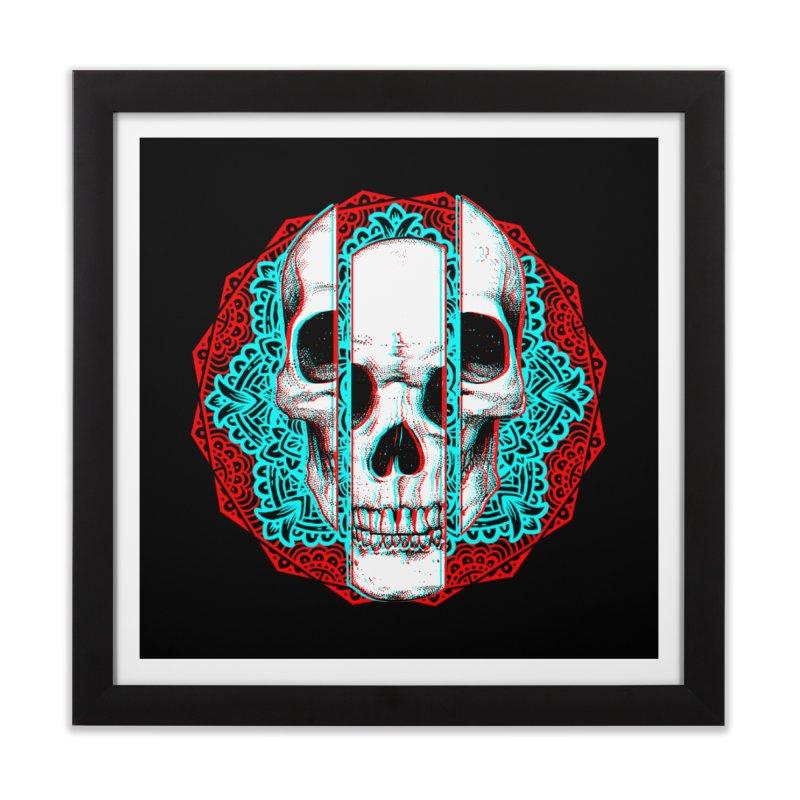 Mandala Skull Home Framed Fine Art Print by ES427's Artist Shop