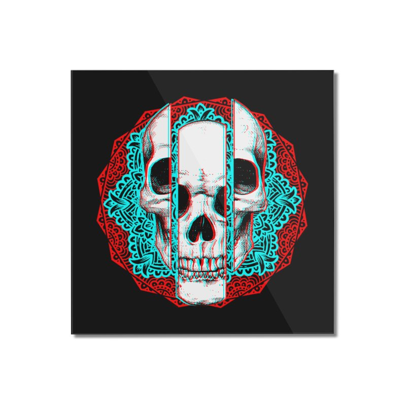 Mandala Skull Home Mounted Acrylic Print by ES427's Artist Shop