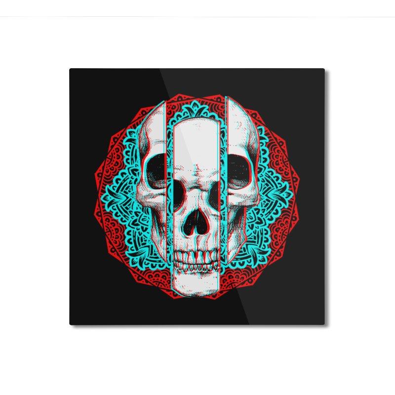 Mandala Skull Home Mounted Aluminum Print by ES427's Artist Shop