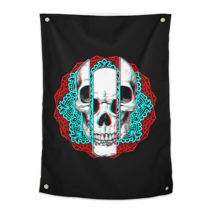 Mandala Skull Home Tapestry by ES427's Artist Shop