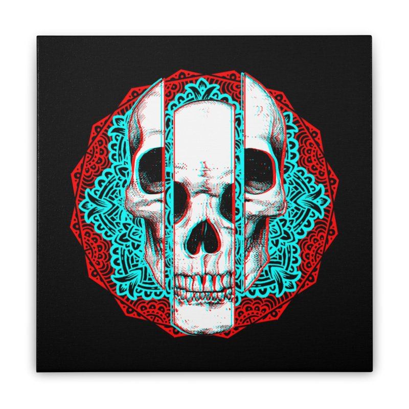 Mandala Skull Home Stretched Canvas by ES427's Artist Shop