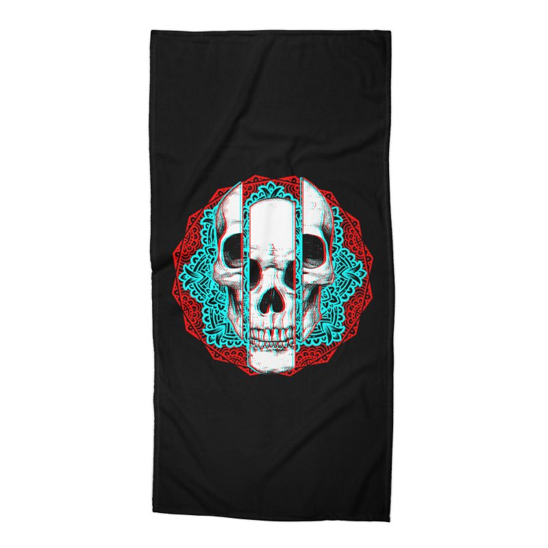 Mandala Skull Accessories Beach Towel by ES427's Artist Shop