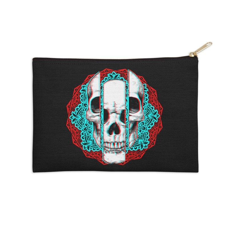 Mandala Skull Accessories Zip Pouch by ES427's Artist Shop