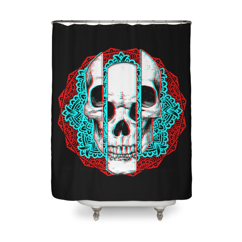 Mandala Skull Home Shower Curtain by ES427's Artist Shop