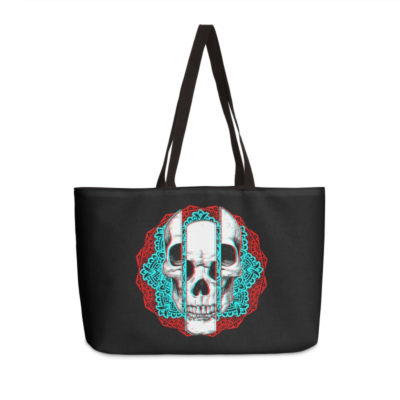 Mandala Skull Accessories Weekender Bag Bag by ES427's Artist Shop