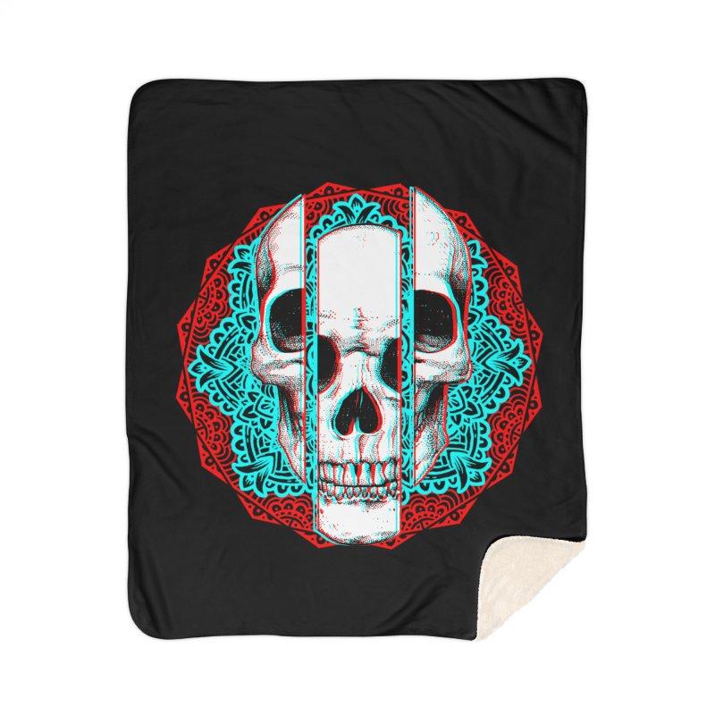 Mandala Skull Home Sherpa Blanket Blanket by ES427's Artist Shop