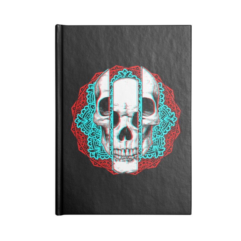Mandala Skull Accessories Lined Journal Notebook by ES427's Artist Shop