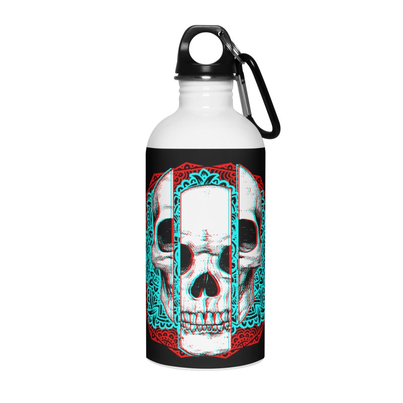 Mandala Skull Accessories Water Bottle by ES427's Artist Shop