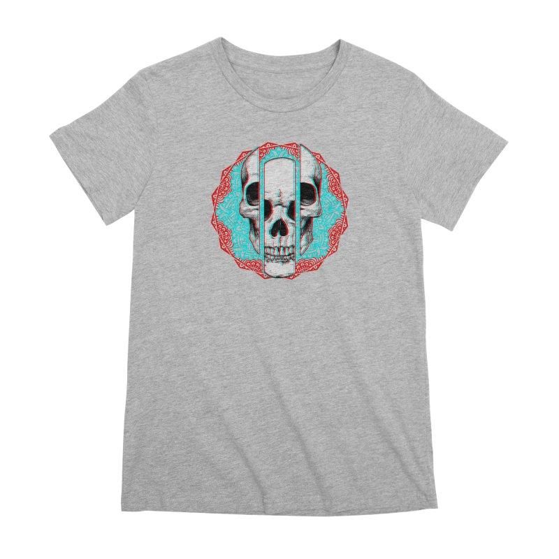 Mandala Skull Women's Premium T-Shirt by ES427's Artist Shop
