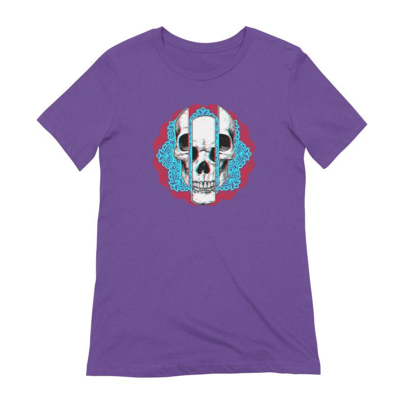 Mandala Skull Women's Extra Soft T-Shirt by ES427's Artist Shop