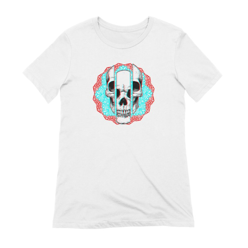 Mandala Skull Women's Extra Soft T-Shirt by ES427's Artist Shop