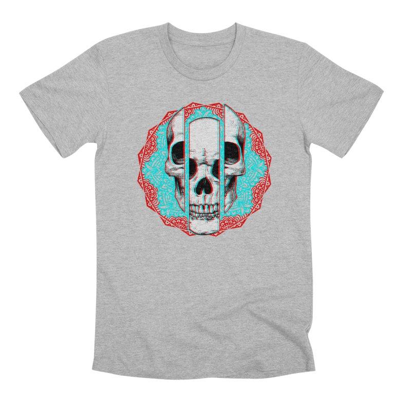 Mandala Skull Men's Premium T-Shirt by ES427's Artist Shop