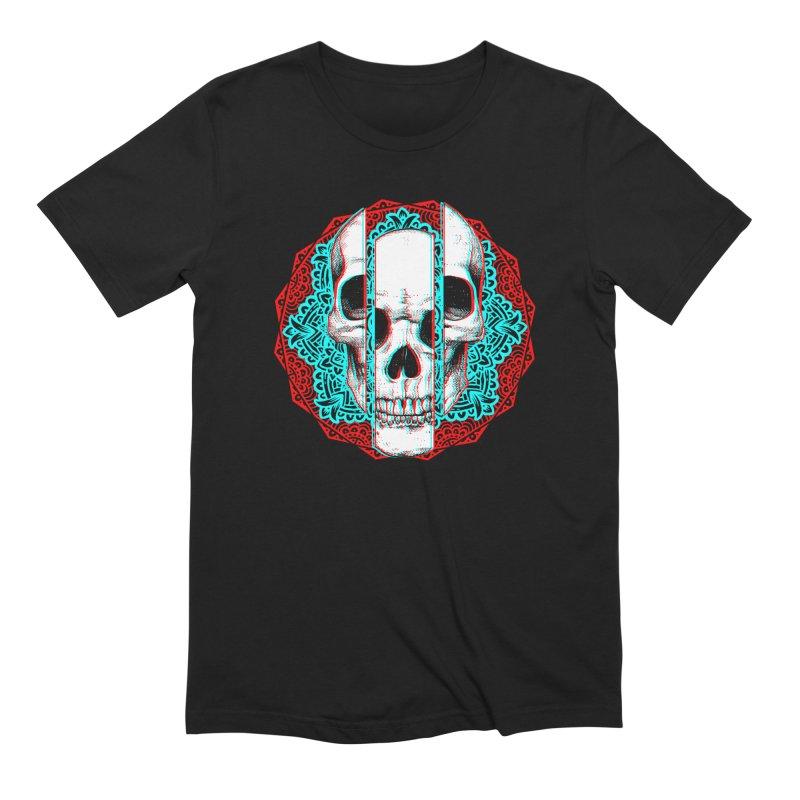 Mandala Skull Men's Extra Soft T-Shirt by ES427's Artist Shop
