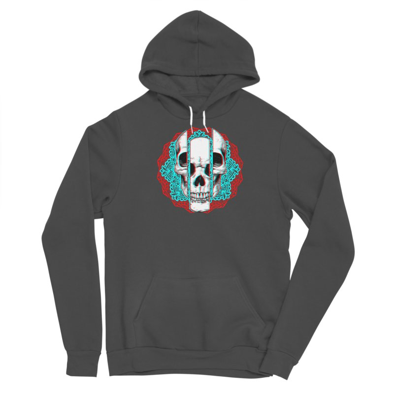 Mandala Skull Men's Sponge Fleece Pullover Hoody by ES427's Artist Shop