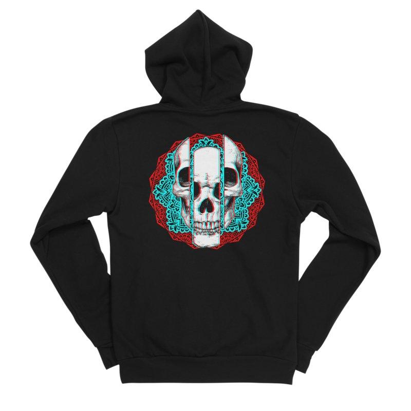 Mandala Skull Women's Sponge Fleece Zip-Up Hoody by ES427's Artist Shop