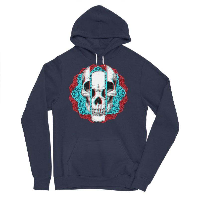 Mandala Skull Men's Sponge Fleece Pullover Hoody by ES427's Artist Shop