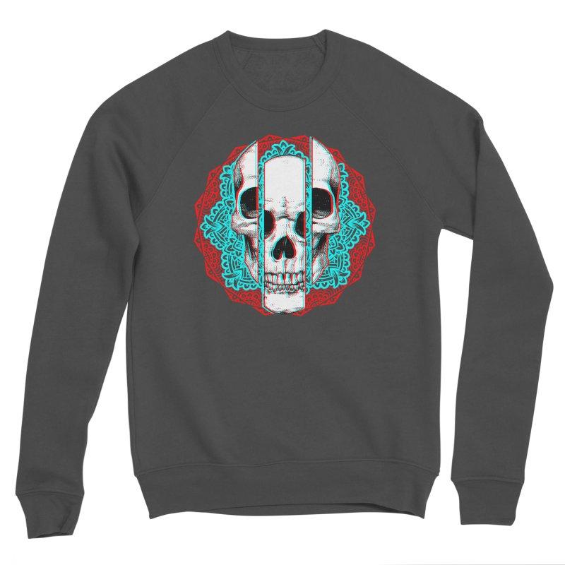 Mandala Skull Men's Sponge Fleece Sweatshirt by ES427's Artist Shop