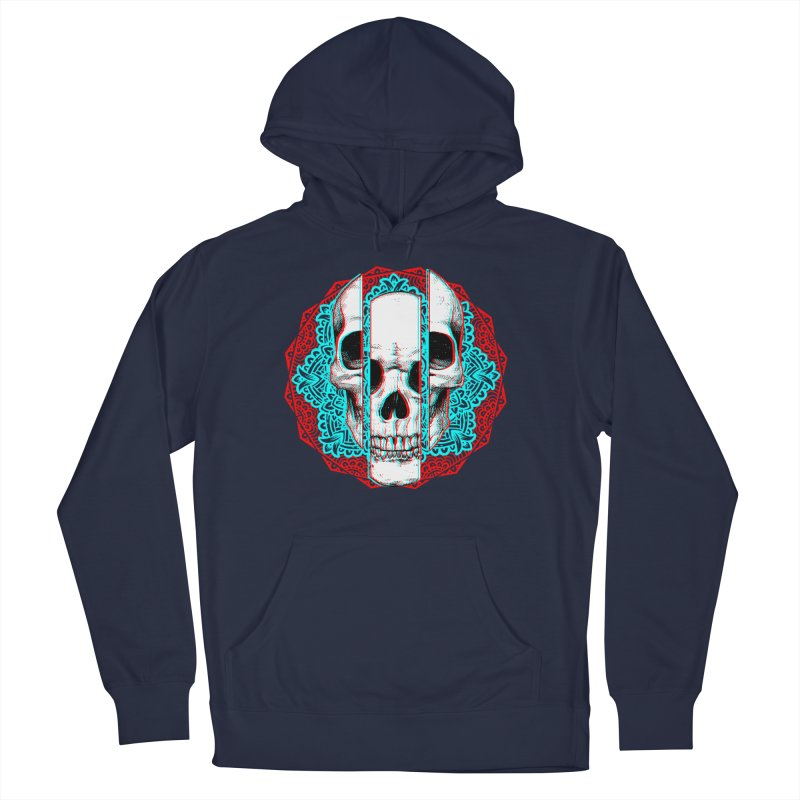 Mandala Skull Women's French Terry Pullover Hoody by ES427's Artist Shop