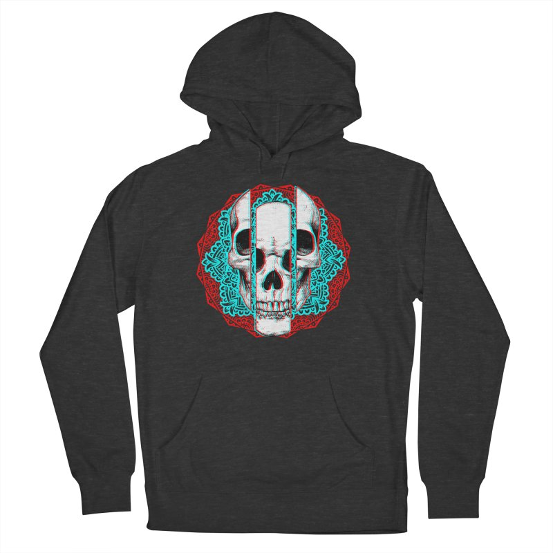 Mandala Skull Men's French Terry Pullover Hoody by ES427's Artist Shop