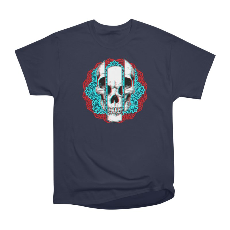 Mandala Skull Men's Heavyweight T-Shirt by ES427's Artist Shop