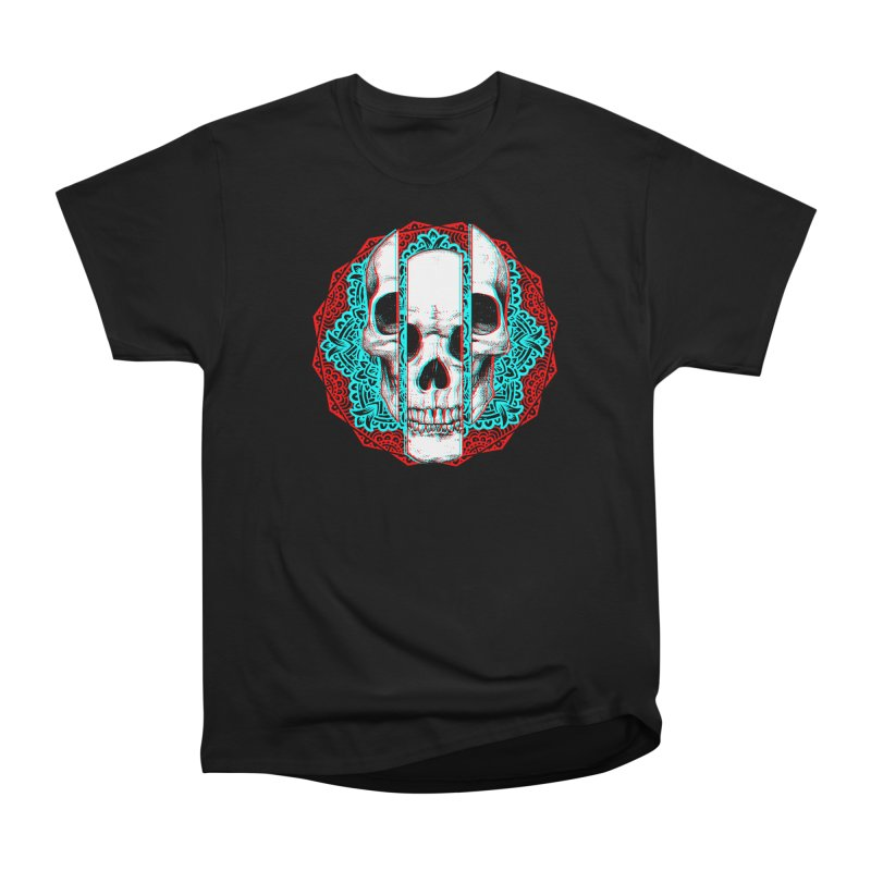 Mandala Skull Men's Heavyweight T-Shirt by ES427's Artist Shop