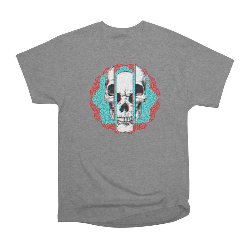 Mandala Skull Women's Heavyweight Unisex T-Shirt by ES427's Artist Shop