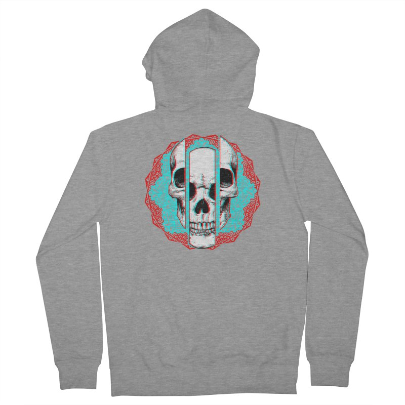 Mandala Skull Women's French Terry Zip-Up Hoody by ES427's Artist Shop
