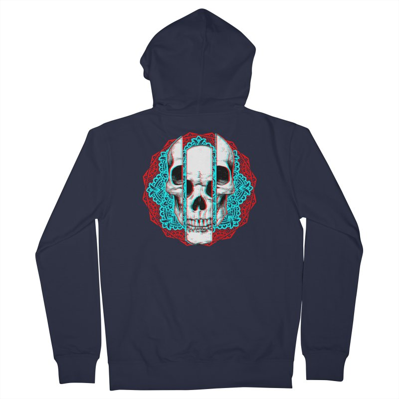 Mandala Skull Men's French Terry Zip-Up Hoody by ES427's Artist Shop