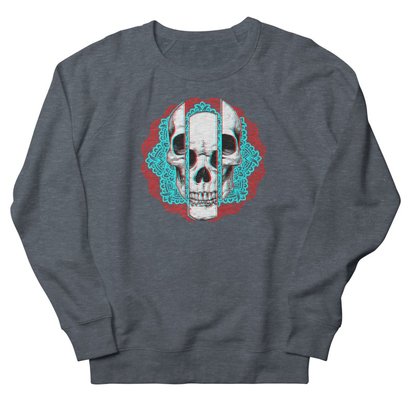 Mandala Skull Men's French Terry Sweatshirt by ES427's Artist Shop