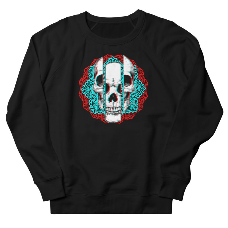 Mandala Skull Men's French Terry Sweatshirt by ES427's Artist Shop