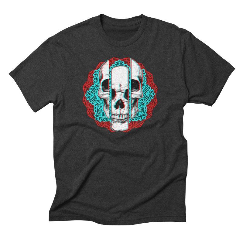 Mandala Skull Men's Triblend T-Shirt by ES427's Artist Shop