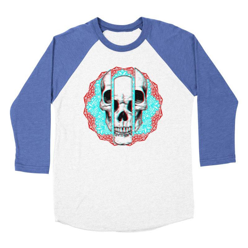 Mandala Skull Women's Baseball Triblend Longsleeve T-Shirt by ES427's Artist Shop