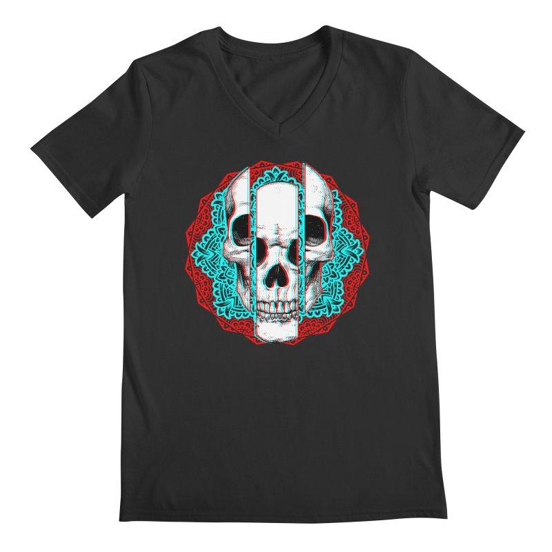 Mandala Skull Men's Regular V-Neck by ES427's Artist Shop