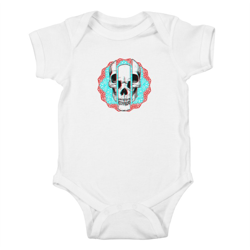 Mandala Skull Kids Baby Bodysuit by ES427's Artist Shop