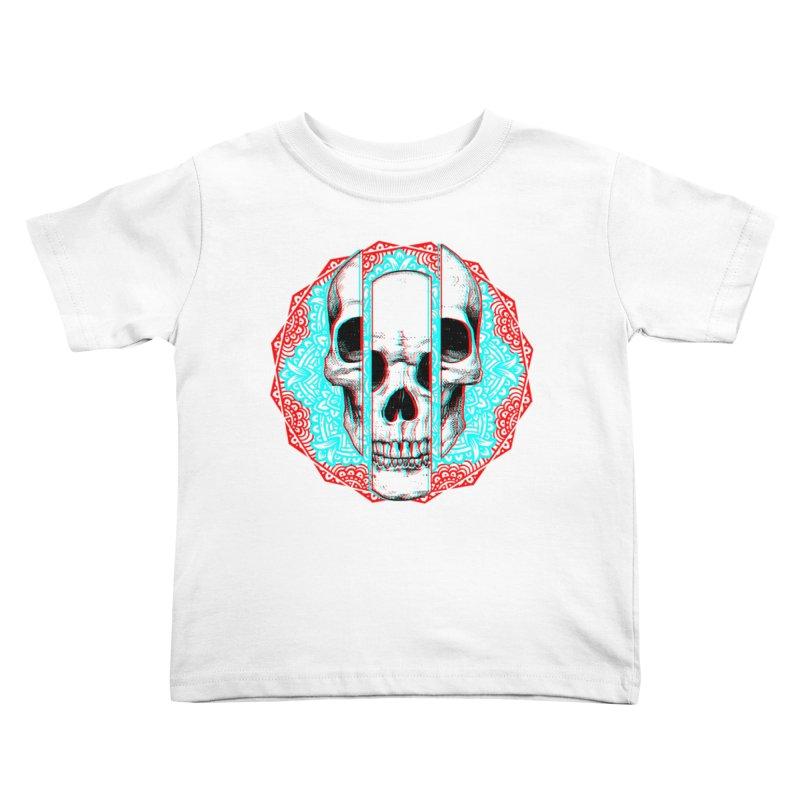 Mandala Skull Kids Toddler T-Shirt by ES427's Artist Shop