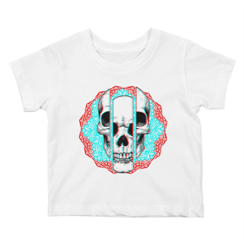Mandala Skull Kids Baby T-Shirt by ES427's Artist Shop
