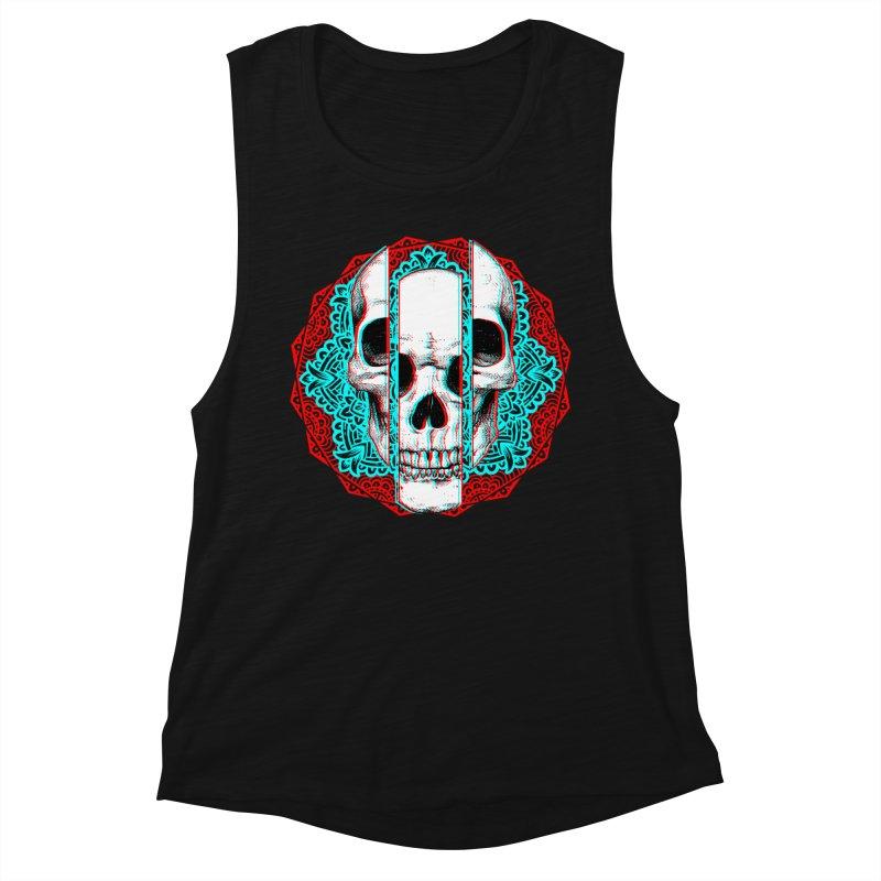 Mandala Skull Women's Muscle Tank by ES427's Artist Shop