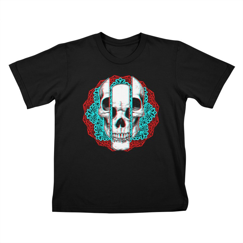 Mandala Skull Kids T-Shirt by ES427's Artist Shop